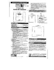 Buy Honeywell Regency Thermostat BASIC 910407 Install Operating Guide by download Mauritr