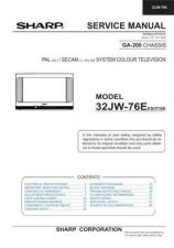 Buy Sharp 32JW-76E Service Manual by download Mauritron #332897