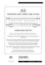 Buy Musical Fidelity A5CD ENG Operating Guide by download #333383