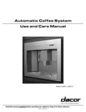 Buy Dacor CM 24P-1 Coffee Machine Operating Guide by download Mauritron #329249