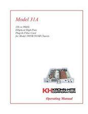 Buy Krohn Hite 31A User Guide by download #334670
