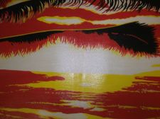 Buy Sunset Beach Painting canvas finished off by hand. original sale ends 9th march