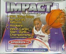 Buy new sealed unopened box 1999 2000 SkyBox IMPACT HOBBY BASKETBALL BOX 36 packs