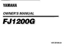 Buy Yamaha 4AY-28199-24 Motorcycle Manual by download #334206