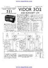 Buy VIDOR. 302. Vintage Service Information. by download Mauritron #315246