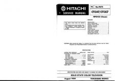 Buy Hitachi CT2250B-1 Service Manual by download Mauritron #289534