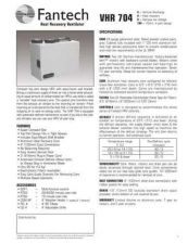 Buy Honeywell fantech vhr704techs Operating Guide by download Mauritron #316783