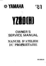 Buy Yamaha 4V1-28199-70 Motorcycle Manual by download #334353