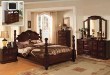 Buy Classic Italian Style Queen King 4 Pc Set Bedroom Antique Furnitur Tucson CM7571