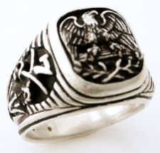 Buy American Eagle Mens US 7th Cavalry ring sterling silvr
