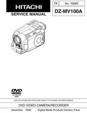 Buy Hitachi DZMV238ESW-3 Service Manual by download Mauritron #289991
