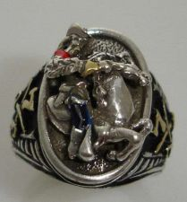 Buy George Armstrong Custer US 7th Cavalry ring sterling silver