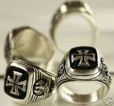 Buy Iron Cross,Eagle Signet ring....Sterling Silver,Lge