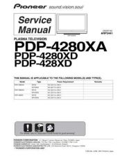 Buy Panasonic PDP-4280XA (3) Manual by download Mauritron #300903