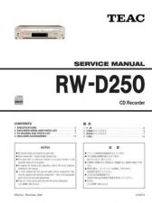 Buy Teac RW-D250 Service Manual by download Mauritron #319516
