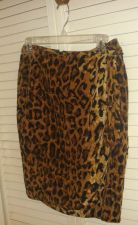 Buy Saks Fifth Leopard Print Wrap Skirt 8 Above Knee 100% Silk Fully Lined 8 $244.