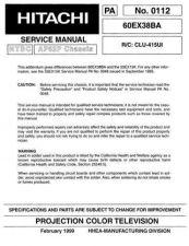 Buy Hitachi 60EX38B Service Manual by download Mauritron #288419