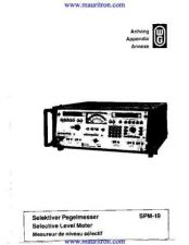 Buy Wandel & Goltermann SPM19 Service by download Mauritron #326373