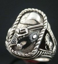 Buy Clayton Moore Last Texas Rangers Silver Bullet tribute sterling silver ring