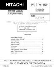 Buy Hitachi 27UX01B-501-511 Service Manual by download Mauritron #284697