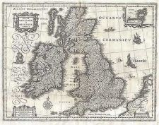 Buy VINTAGE 1631 MAP OF THE BRITISH ISLES,ENGLAND,SCOTLAND,IRELAND,GEOGRAPHICUS