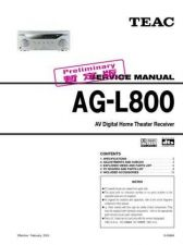 Buy Teac AGL800_temp Service Manual by download Mauritron #319292