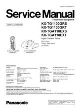 Buy Panasonic TG1100GRS Manual by download Mauritron #302262