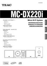 Buy Teac MCDX20E Operating Guide by download Mauritron #318895