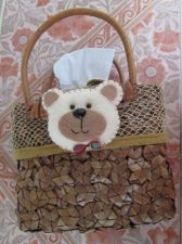 Buy Woven Basket Picnic Basket for Tissue Holder Small Dried Leaf Rattan Wood Handle
