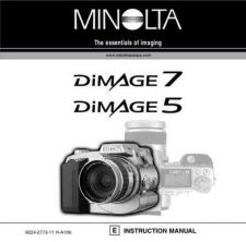 Buy Minolta DI 7 5 UK HW Camera Operating Guide by download Mauritron #320903