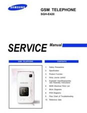 Buy Samsung SGH-E420 Mobile Phone Service Manual by download Mauritron #306330