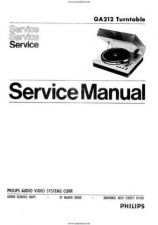 Buy Philips GA212 Turntable Manual by download Mauritron #328784