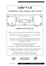 Buy Musical Fidelity A308CRCD ENG Operating Guide by download Mauritron #326858