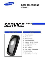 Buy Samsung SGH-A517 Mobile Phone Service Manual by download Mauritron #306281