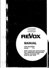 Buy Revox A77 Operating Guide by download Mauritron #329738
