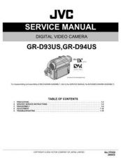 Buy JVC GR-D93US Service Manual by download Mauritron #279135