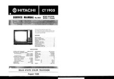 Buy Hitachi CT1905-3 Service Manual by download Mauritron #284989