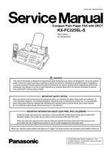 Buy Panasonic KMF0608029CE_KX-FC225SL-S Manual by download Mauritron #299431
