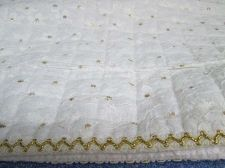 "Buy Slipcover Protector Bench Stool Cover Golden Dots Overlay Lace 14""x 58"" Luxury"