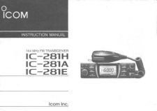 Buy Icom IC-281H Instruction manual by download Mauritron #329442