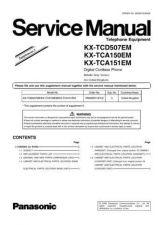 Buy Panasonic KX-TCA132EXT Manual by download Mauritron #299831
