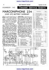 Buy MARCONI. 257. Vintage. Service Information. Manual by download Mauritron #312537