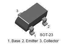 Buy SMT Transistor - BC857 PNP (SOT-23) - 35 Pieces