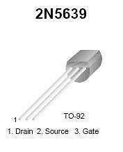 Buy Transistor - 2N5639 N-FET (TO-92) - 12 Pieces