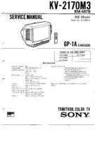 Buy Sony KV-20FS100 TV Service Manual by download Mauritron #322893