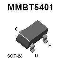 Buy SMT Transistor - MMBT5401 PNP High-Voltage Amplifier (SOT-23) - 18 Pieces