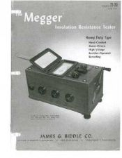 Buy Megger 638 SERIES Operating Guide by download #336110