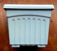 Buy 4X PLANTER PLASTIC POTS SQUARE HIGH QUALITY DURABLE BIODEGRADABLE 15 X 15 X 13