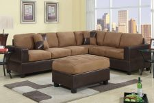 Buy Sectional Sofa Microfiber Sofa couch Sectional Couch 2 Pc Living room Set #F7632