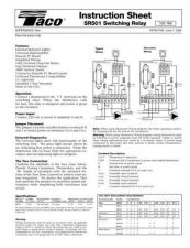 Buy Honeywell Taco Sr501manual by download Mauritron #318130